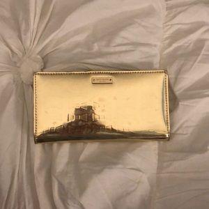 Kate spade Gold bow wallet